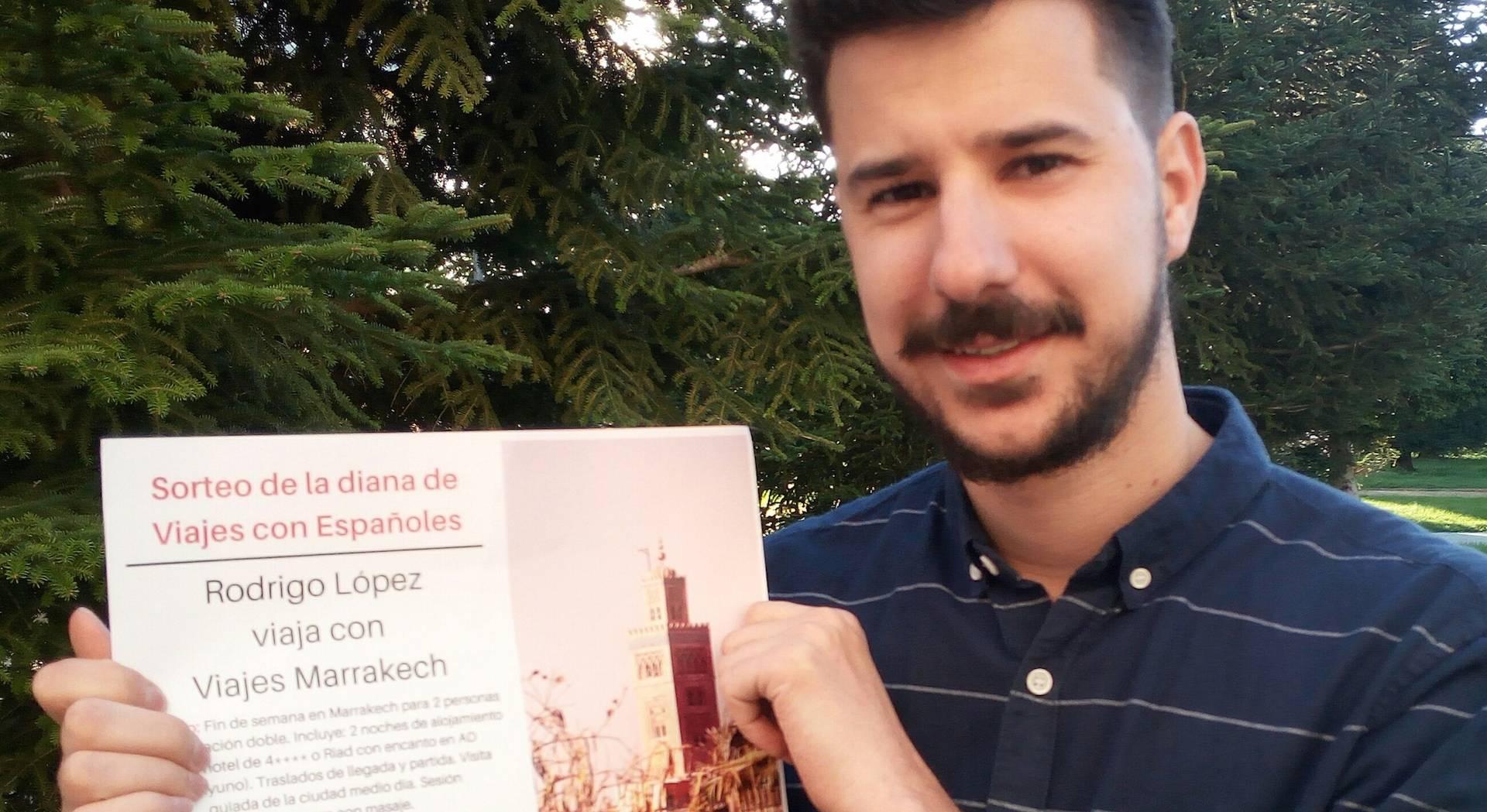 Rodrigo López, el concursante y viajero que 'dio en la diana'