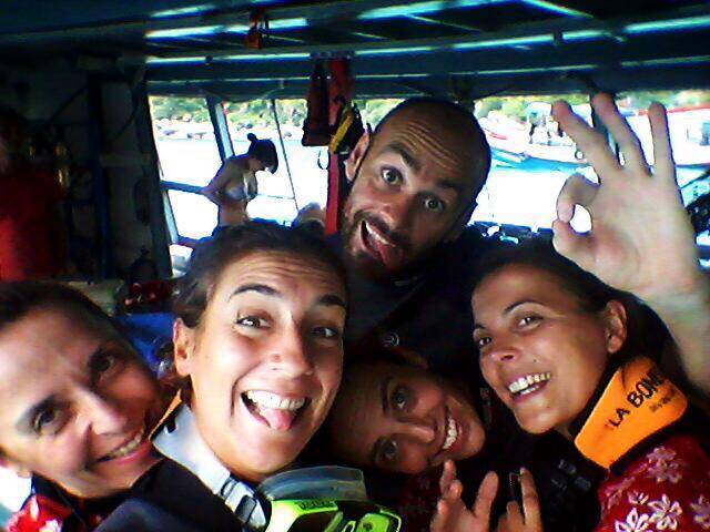 team la bombona diving buceo tailandia
